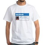 Macebook White T-Shirt