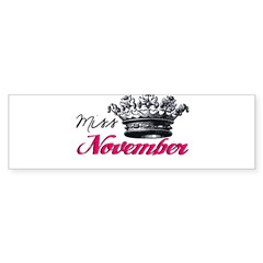 Girl of the Month Bumper Sticker