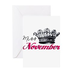 Girl of the Month Greeting Card