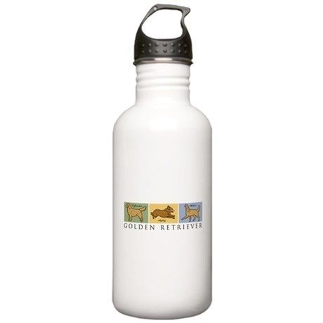 Versatile Golden Stainless Water Bottle 1.0L