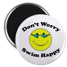 "Don't Worry Swim Happy 2.25"" Magnet (10 pack)"
