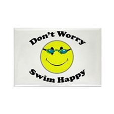 Don't Worry Swim Happy Rectangle Magnet (10 pack)