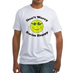 Don't Worry Swim Happy Fitted T-Shirt
