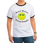 Don't Worry Swim Happy Ringer T