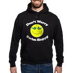 Don't Worry Swim Happy Hoodie (dark)