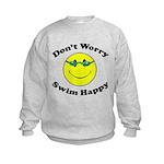 Don't Worry Swim Happy Kids Sweatshirt