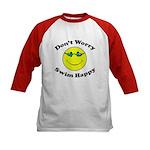 Don't Worry Swim Happy Kids Baseball Jersey