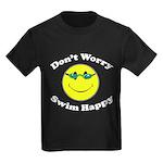 Don't Worry Swim Happy Kids Dark T-Shirt