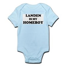 Landen Is My Homeboy Infant Creeper