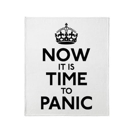 Time To Panic Throw Blanket