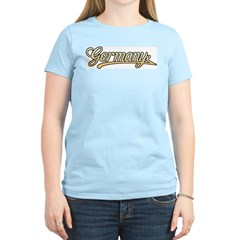 Retro Germany Women's Pink T-Shirt