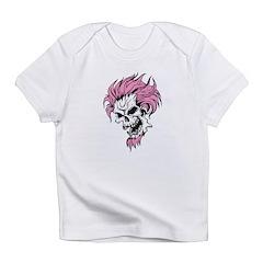 Crazy Pink Hair Punk Skull Infant T-Shirt