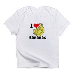I Heart (love) Bananas Infant T-Shirt