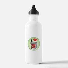 I Love (Heart) Peas Water Bottle