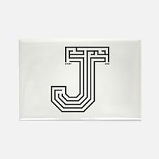 Letter J Maze Rectangle Magnet