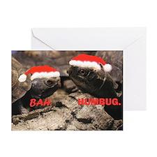 Bah Humbug Santa Turtles Greeting Cards (Pk of 10)