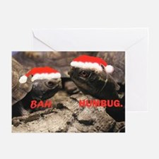 Bah Humbug Santa Turtles Greeting Cards (Pk of 10)