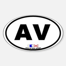 Avalon NJ - Oval Design Decal