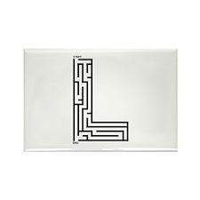 Letter L Maze Rectangle Magnet (10 pack)