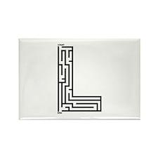 Letter L Maze Rectangle Magnet (100 pack)