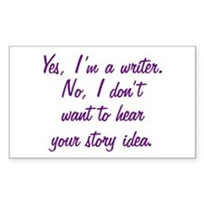 I'm a Writer Decal