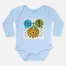 Lion 1st Birthday Long Sleeve Infant Bodysuit
