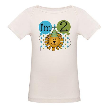 Lion 2nd Birthday Organic Baby T-Shirt