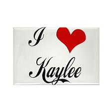I Love Kaylee Rectangle Magnet