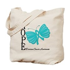 Ovarian Cancer Hope Butterfly Art Tote Bag