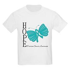 Ovarian Cancer Hope Butterfly Art T-Shirt
