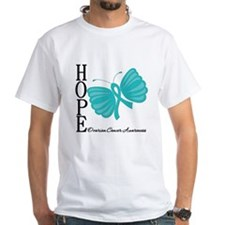 Ovarian Cancer Hope Butterfly Art Shirt