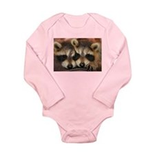 Raccoon Long Sleeve Infant Body Suit