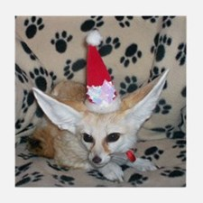 Holiday Zoey, Fennec Fox Tile Coaster
