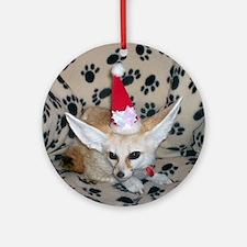 Holiday Zoey, Fennec Fox Ornament (Round)