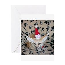 Holiday Zoey, Fennec Fox Greeting Card