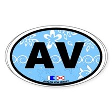 Avalon NJ - Oval Design Decal