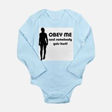 OBEY ME, Dominance Long Sleeve Infant Bodysuit