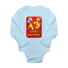 13th Birthday Long Sleeve Infant Bodysuit