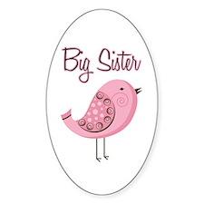 Big Sister Retro Bird Decal