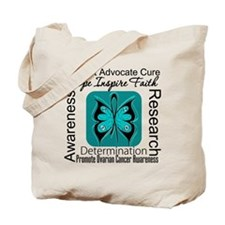 Ovarian Cancer HopeInspireFaith Tote Bag