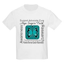 Ovarian Cancer HopeInspireFaith T-Shirt