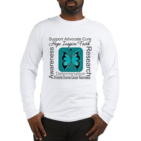 Ovarian Cancer HopeInspireFaith Long Sleeve T-Shir