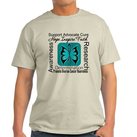 Ovarian Cancer HopeInspireFaith Light T-Shirt