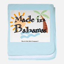 Made in Bahamas baby blanket