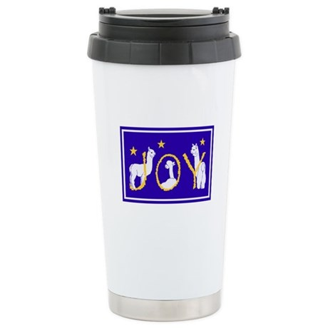 """Alpaca Joy"" Stainless Steel Travel Mug"