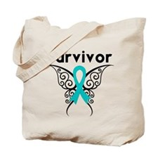 Ovarian Cancer Butterfly-Surv Tote Bag