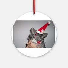 Holiday Chinchilla Ornament (Round)