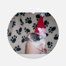 Holiday Ratty Ornament (Round)