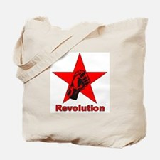 Commie Revolution Star Fist Tote Bag