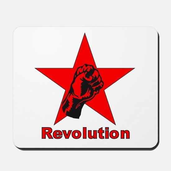 Commie Revolution Star Fist Mousepad
